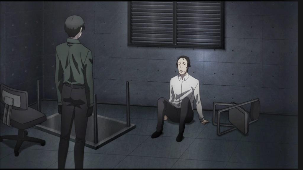 Kaneki interrogating Shiono