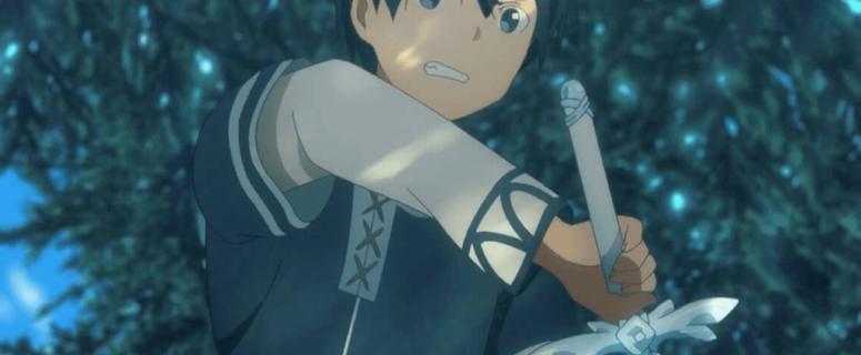 Kirito Opening the Sword
