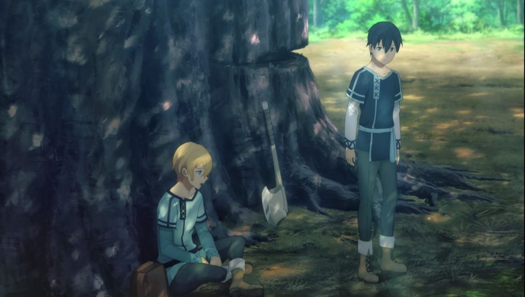 Kirito and Eugeo Talking