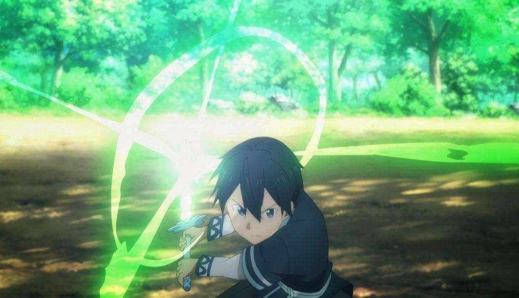 Kirito using the Sword