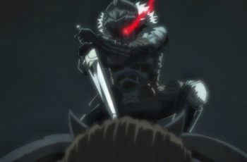 Goblin Slayer killing Ogre